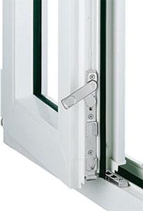 Стулка штульпового вікна зі шпінгалетами