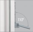 Фіксація штифта опори нижньої петлі в крайньому нижньому положенні для зручного монтажу з використанням шуруповерта - штифт петлі не падає і не заважає закручування саморіза.